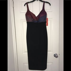 Color-block Midi ML dress